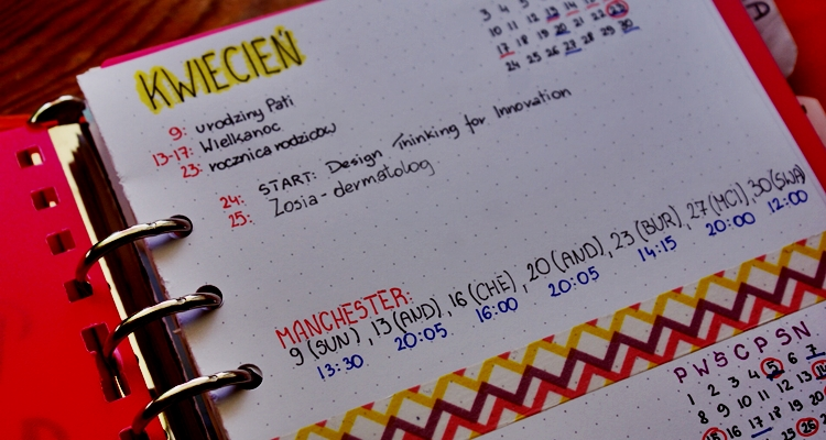 bullet journal kalendarz
