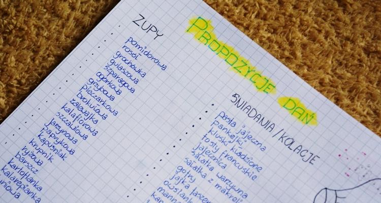Bullet Journal menu