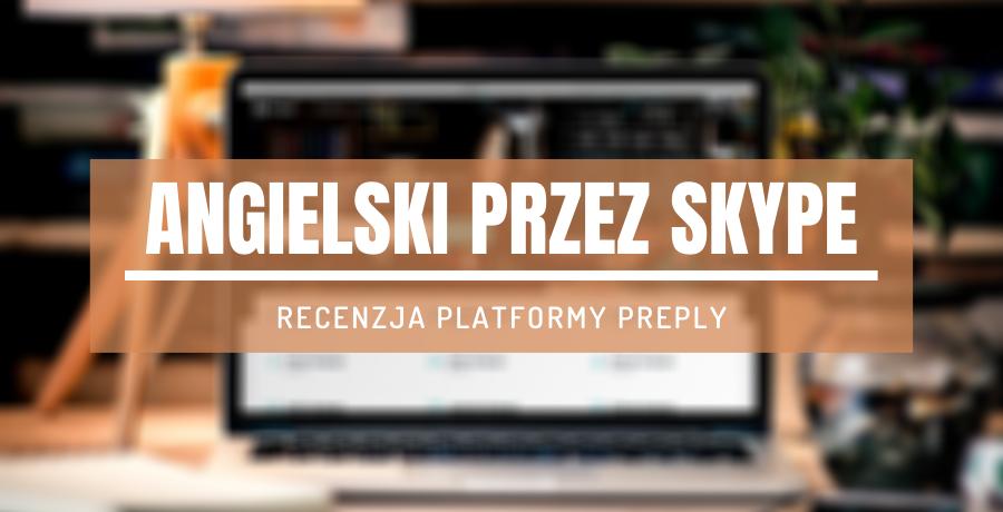 laptop platforma do nauki języków przez skype
