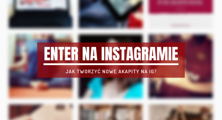 enter na instagramie
