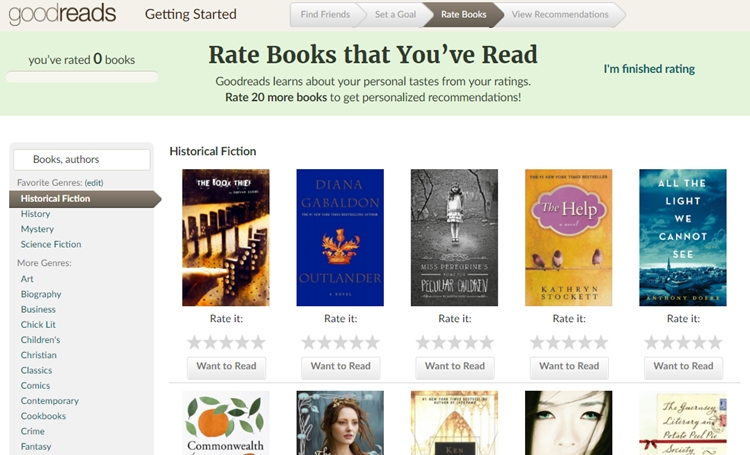 rejestracja goodreads