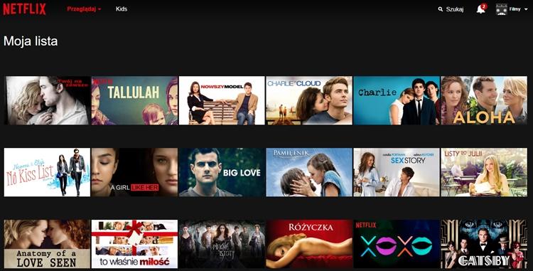 netflix katalog filmów