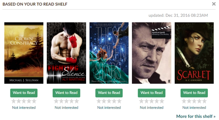 goodreads recommendations